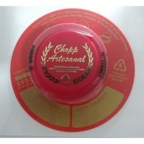 Lacre Para Barril Chopp Vermelho / Ouro - Kit 50 Unidades