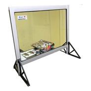 Barrera Sanitaria Mostrador Protector Aluminio 100x60
