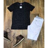 Camisa Camiseta Masculina Rock Soda Em Malha Estampada Linda