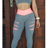 Calça Legging Fitness Roupa Academia Suplex Kit C/3 + Brinde