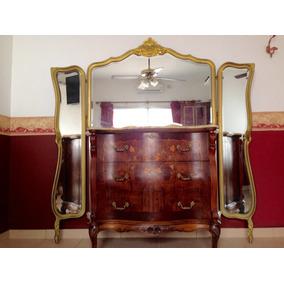 cmoda antigua espejos viselados dormitorio placard bronces
