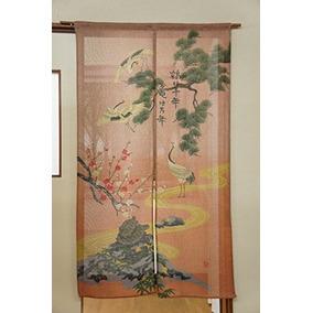 Cosmos Noren (cortina Japonesa) \grúa Y Tortuga\ 85x150