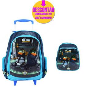 Kit Escolar Mochila Rodinha Club Penguin 51422g - Catmania