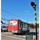Poste Paso De Zebra Con Baliza Solar Advertencia 200mm