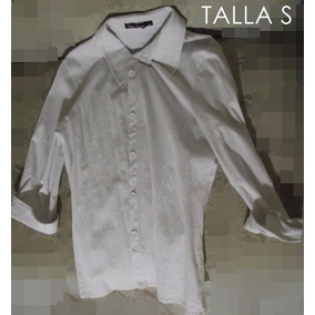 Camisa Blanca Manga 3/4