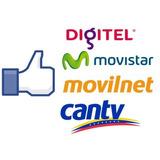 Recarga De Saldo Movilnet, Movistar, Digitel Y Directv.