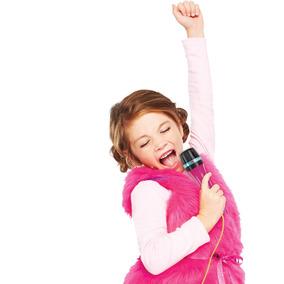 Microfone Com Base - Barbie- Karaokê - Microfone Fabuloso -