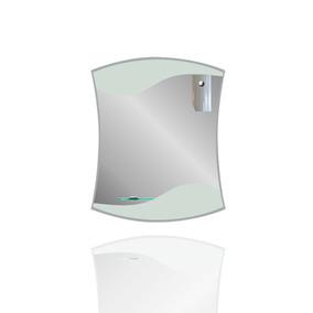 Espejo De Baño O Tocador Con Luz Y Repisa De 4mm 45 X 60 Cm