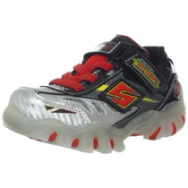 Tenis Skechers Infantil Com Luz Pisca Super Hot Lights