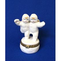 Angeles Patinando Figura En Ceramica