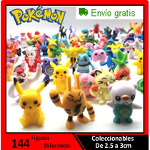 144 Figuras De Pokemon Coleccionables - Entrega Inmediata