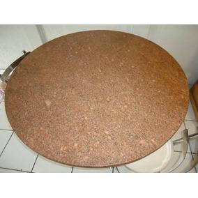 Mesa De Granito Redonda C/ 4 Cadeiras