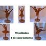 Bailarina Enfeite De Mesa Em Mdf Cru Festa (10 Uni.variadas)