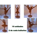 10 Bailarina Enfeite De Mesa Decoração De Festa Variadas