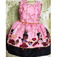 Vestido Infantil Temático Lol Realeza Luxo