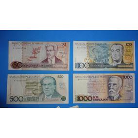 P-003 Lote Notas Cruzado Cédulas Dinheiro Antigo - Barato