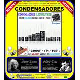 Capacitores Condensadores 2200uf, 16v, 105ºc, Kit 5 Piezas