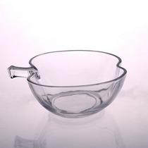 Bowl Tazón Recipiente De Vidrio Forma Manzana Centro De Mesa