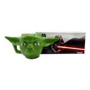 Caneca Porcelana Formato 3d Mestre Yoda Star Wars Disney