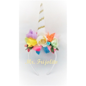 Diademas De Unicornio Con Flores Para Bebés-niñas-jóvenes