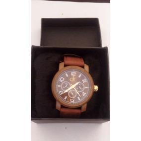 66247704a52 Relógio Calvin Klein Dourado Com Pulseira Em Couro Preto - Relógios ...