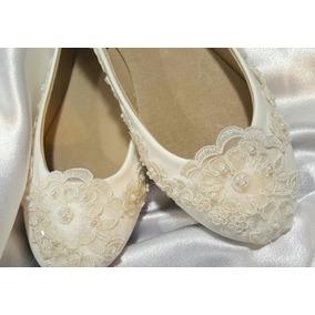 Hermosos Zapatos Flats Novia Primera Comunión Vintage
