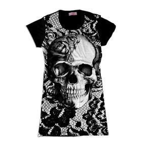 Skull Caveira Renda Swag Roupas Femininas Vestidos Femininos