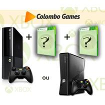Xbox 360 4gb 2 Jogos Originais+ Frete 19,90.