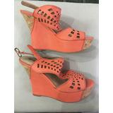 Z25 Zapatos Coral Nuevos 36,5 Plataforma !