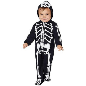 Disfraz Niño Bebe Esqueleto Traje Calavera Muerte Halloween