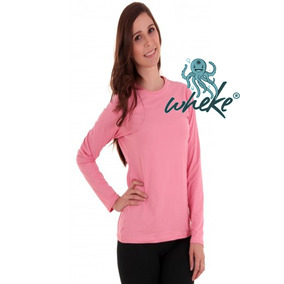 Camiseta Feminina Wheke Proteção Uv Praia Bike Lazer Sol
