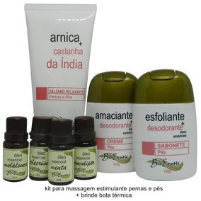 Kit Massagem Estimulante Pernas E Pés Bioexotic + Brinde