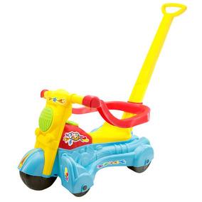 Moto Andador Baby Azul 262e - Bs Toys Presente De Natal