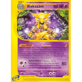 Carta Pokémon Alakazam - Expedition Base Set