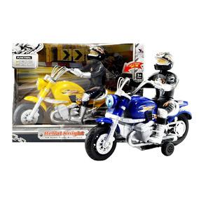 Motocicleta A Fricción Con Luces Y Sonido, Moto De Juguete