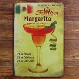 Cuadro Margarita Mexico Pub Bar Cartel Chapa Retro Vintage