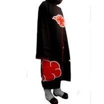 Manto Akatsuki Com Botas/sasuke/naruto/cosplay R$ 175,00