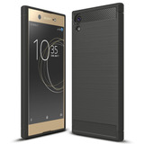 Sony Xperia Xa1 Ultra - Protector Perfect Grip Carbon Shell
