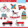 Kit Imprimible Juguetes Viejos 1 Imagenes Clipart