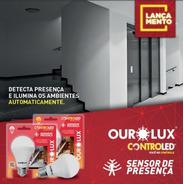 Lâmpada Bulbo Led Controled 9w - Sensor De Presença Ourolux