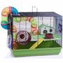 Jaula Hamster 2 Pisos Full Equipo Tubos Talla X X L Pethome