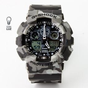 Reloj G-shock Color Gris Camuflajeado Para Caballero Caucho
