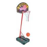 Aro De Basquet De Pie Metalico Valija Pelota Red Basket