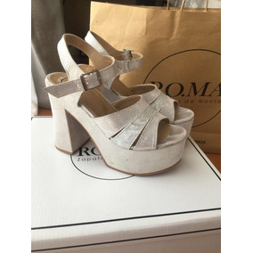 45820b6e Delicados Zapatos De Novia - Sandalias de Mujer Plateado en Mercado ...