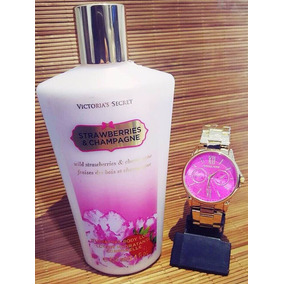 Kit Relógio Feminino + Creme Victoria Secrets + Caixa! 0694af2743