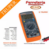 Tester Multimetro C/medidor De Temperatura Truper Mut-39