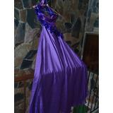 Vestido Largo De Fiesta Color Violeta. Fiesta, Eventos