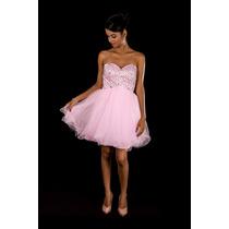 Vestido De Festa Rosa/debutante/15 Anos/civil/casamento