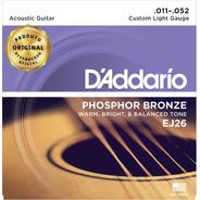 Encordoamento Violão Aço Daddario Ej26 011 Phosphor Bronze