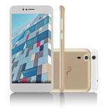 Celular Tablet-mini Ms55 Dourado/branco + Micro Sd 16gb